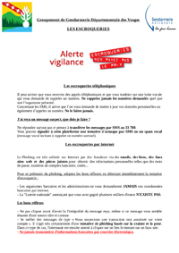 prevention escroquerie